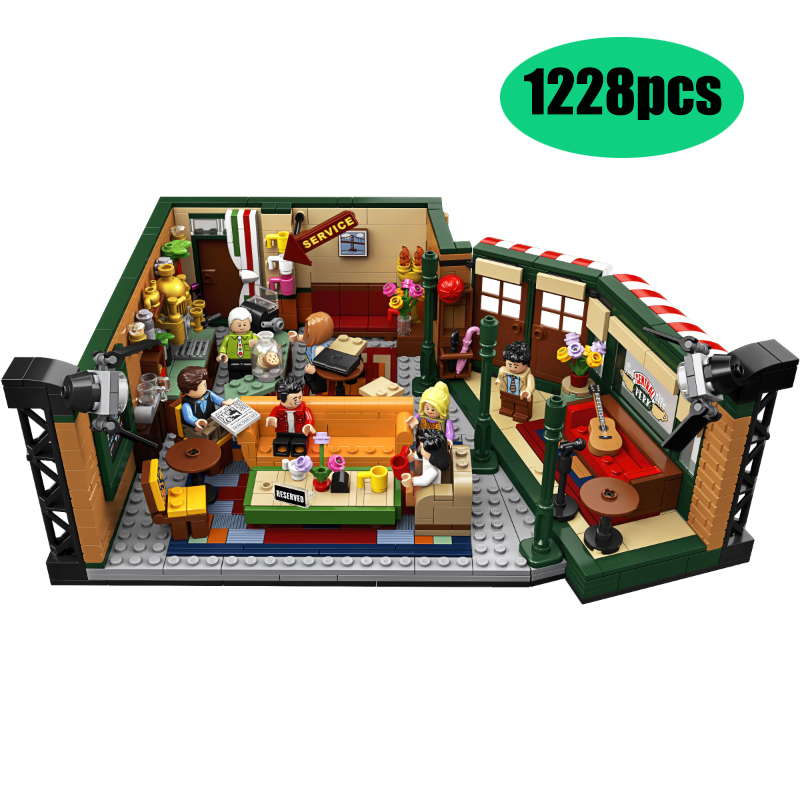 In Stock Legoinglys Friends Classic TV American Drama Friends Central Perk Cafe Fit Model Building Block Bricks 21319 Toy Gift