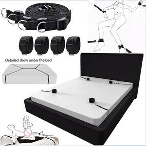 Sex Furniture Handcuffs & Ankle Cuffs BDSM Bondage Set Restraint Open Leg Fetish Adult Sex Toys For Couples Games Sex Products