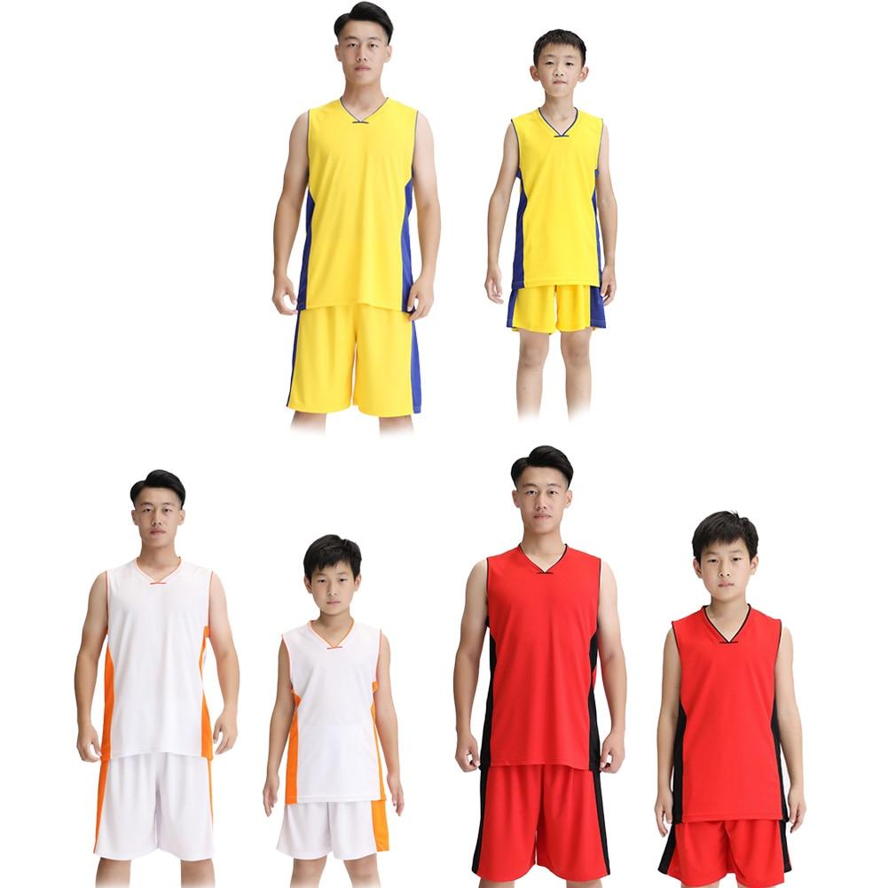 Hearty 2020 New 2pcs Basketball Uniforms Sport Breathable Set Adult Kids Training Sports Vest Adult Kids Basketball Sport Uniforms Kits