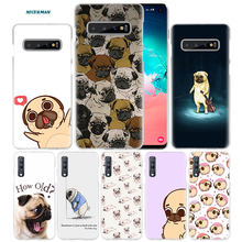 Pugs Não Drogas Cães Case para Samsung Galaxy Note 10 5G 9 8 S10 S9 S8 Plus A50 A40 a70 A20 e Note10 + PC Tampa Do Telefone Coque A10 s(China)