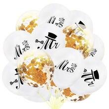 15 шт mr mrs белый латекс конфетти воздушные шары для Свадебная