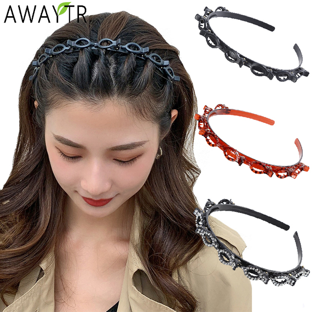 AWAYTR Unisex Alice Hairband Headband Men Women Sports Hair Band Hoop Metal Hoop Double Bangs Hairstyle Hairpin Hair Accessories 1