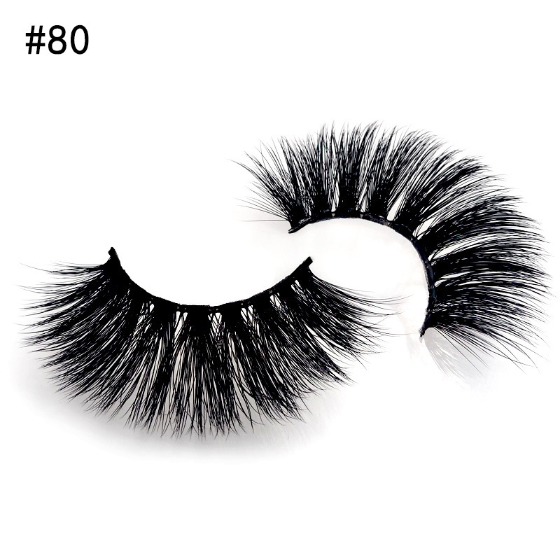 SHIDISHANGPIN 2 Pairs 3D Mink Eyelashes Natural Long 3d Lashes 1 Box False Makeup Cilios Maquiagem