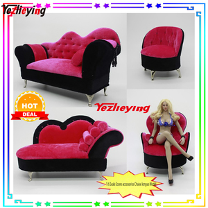 10Styles1/6 Sca Action Figure Scene Accessories Sofa Couch Chair Furniture Recliner Model Chaise Flannel Sponge F12