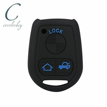 Cocolockey Silicone Car Key Case Cover for BMW E31 E32 E34 E36 E38 E39 E46 Z3 3 Buttons Remote Car Key fob shell Wallet image