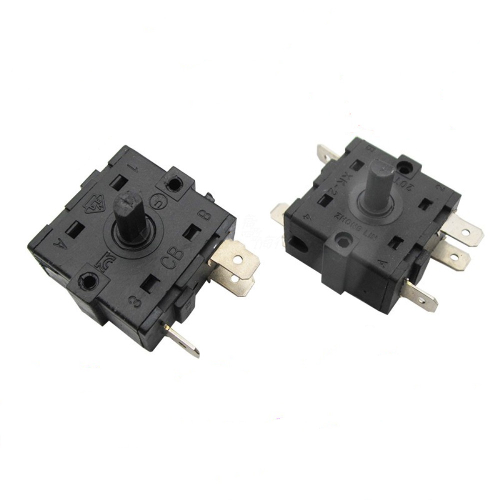 1 PCS Electric Room Heater 3 Position 2Position 3 Pin 5Pin Rotary Switch Selector AC 250V 16A Switches  - AliExpress