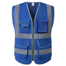 Safety-Clothing Reflective-Vest Pockets Workwear High-Visibility Unisex Multi-Tool