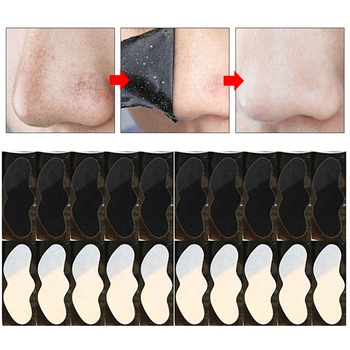 10pcs Nose Blackhead Remover Mask Skin Care Shrink Pore Charcoal Mask Deep Nose Pore Cleansing Strips Black Head Remover bamboo purifiant charcoal blackhead remover nose mask peeling mask deep cleansing shrink pore moisturizing skin care ride facial