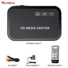 2pcs 1080P multi HD media video player Center with HD VGA AV USB SD/MMC Port with Remote Control YpbPr AV Cable