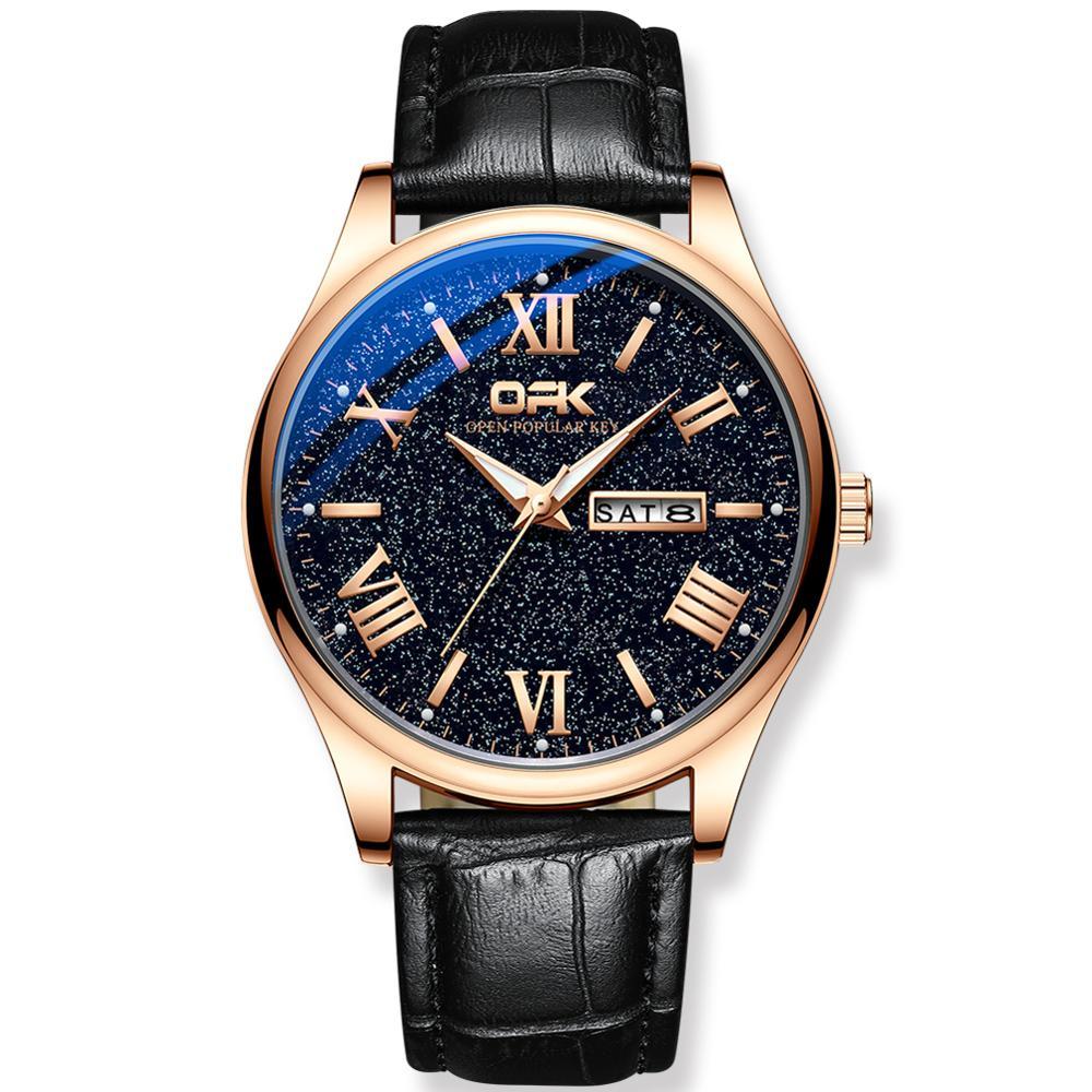 Top Brand Men Watches Leather Mesh Calendar Creative Bussiness Quartz Mens Luxury Fashion Wrist Watch Clock Relogio Masculino