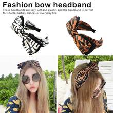 Fashion Bowknot Hairband Headband Ladies Big Bow Hair Accessories Headwear For Girls Wide-brimmed headband girls bow decorated headband