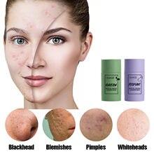 Green Tea Mask Stick Anti Acne Removal Blackhead Shrink Pore Oil Control Moisturizing Hydrating Whitening Face Mask Skin Care