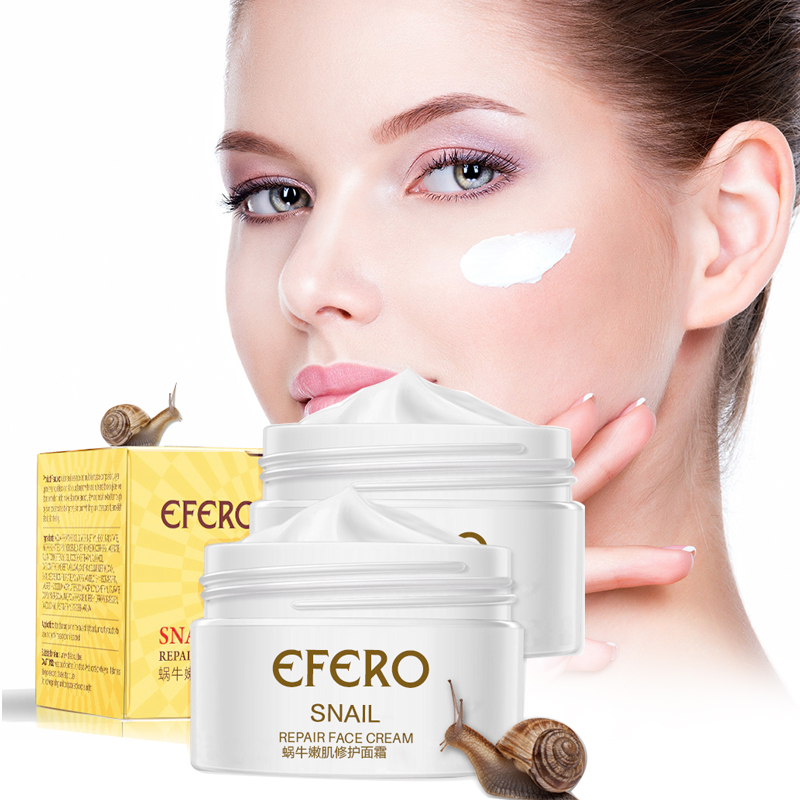 Efero Snail Cream Peptide Anti Wrinkle Face Cream Anti Aging Whitening Cream Acne Treatment Hyaluronic Acid Snail Cream For Face