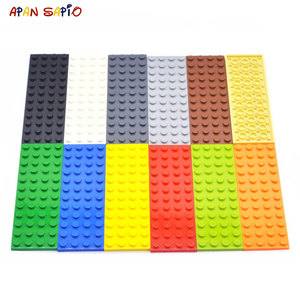 50pcs DIY Building Blocks Thin Figures Bricks 4x12 Dots Educational Creative Size Compatible With Brands Toys for Children