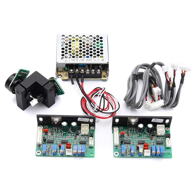 1 Set Galvanometer Scanner 15V 20Kpps Laser Scanning Galvo  Based Optical Scanner Set For DJ Laser Light Show  Lighting
