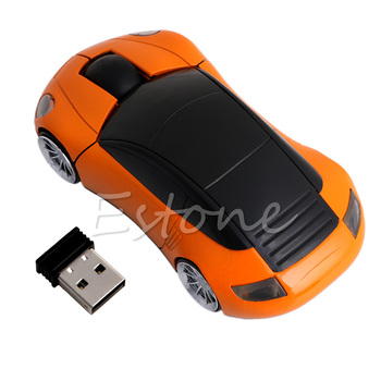2020 New 2.4G 1600DPI Mouse USB Receiver Wireless LED Light Car Shape Optical Mice image