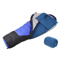 Dual-sides Fleece Sleeping Bag Portable Outdoor Camping Travel Hiking light D25
