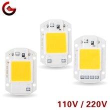 Chip LED de 10W, 20W, 30W, 50W, 220V, 110V, COB, lámpara inteligente IC, No necesita controlador, bombilla LED para proyector de luz de inundación, iluminación artesanal