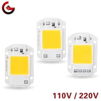 LED Chip 10W 20W 30W 50W 220V 110V COB Lamp Beads Smart IC No Need Driver LED Bulb for Flood Light Spotlight Diy Lighting цена 2017