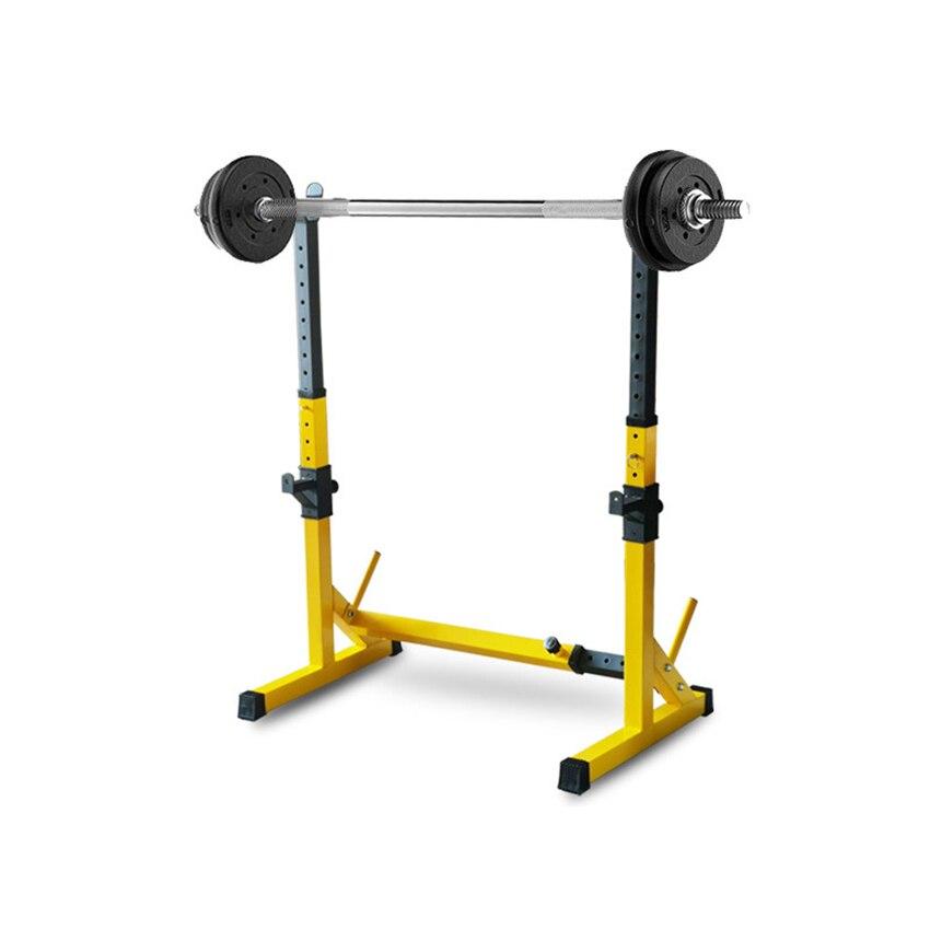 Une-Pièce Barbell Squat Rack Support En Acier Rack D'haltères Haltérophilie Hauteur Réglable Haltères Cadre Intérieur Équipement De Conditionnement Physique - 2