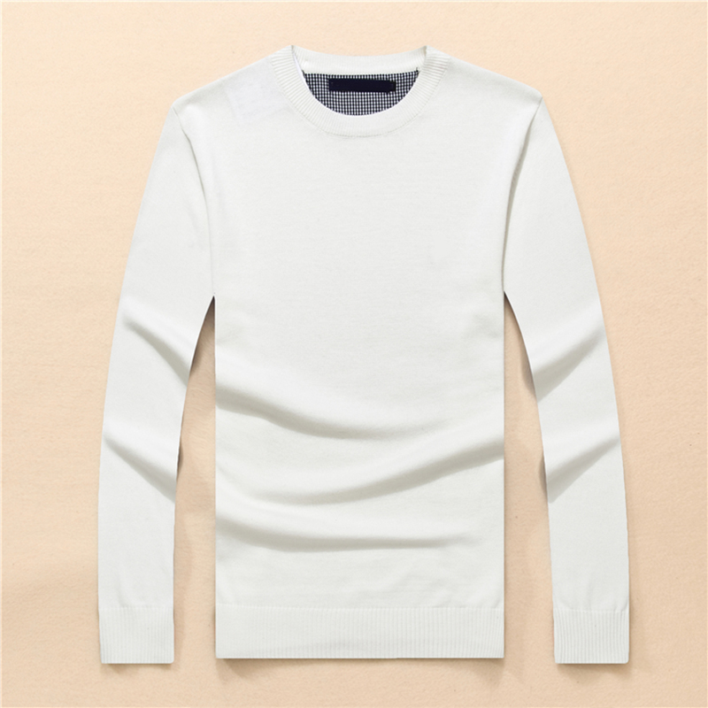 Men High Quality Tommi O-neck 100%cotton Sweater Autumn Winter Jersey Jumper Hombre Pull Homme Hiver Pullover Knitted Sweaters