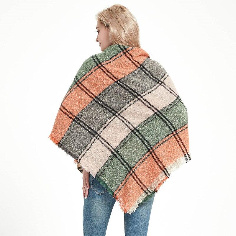 2020 Hot spring women scarf plaid warm scarves shawls and pashmina lady bandana wraps Cashmere