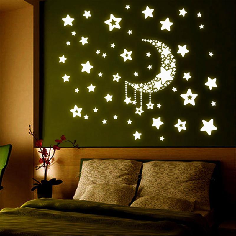 Luminous Bedroom Wall Stickers Art Bedroom Decorative Stickers Kids Room Decorative Stickers Household Adornment Wall Stickers