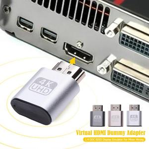 Image 3 - HDMI compatible Virtual Display Adapter 1.4 DDC EDID Dummy Plug Lock Graphics Card GPU Rig Emulator for Bitcoin BTC Mining Miner