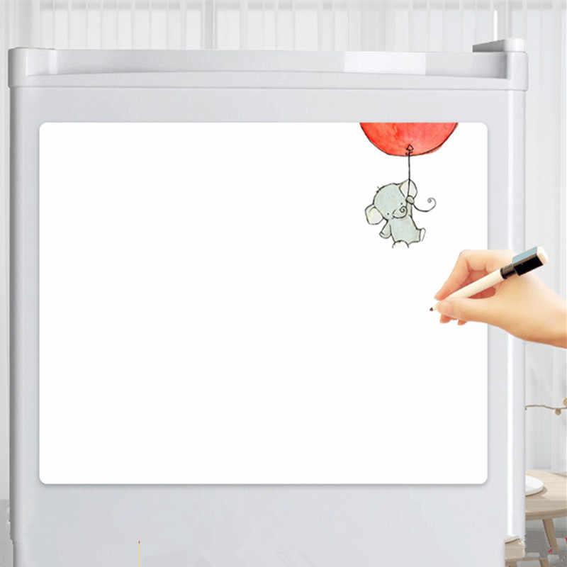 Flexibele magnetische whiteboard voor Koelkast Magneten tekening witte boord sticker met 2 pen Koelkast Bericht Herinneren Memo Pad