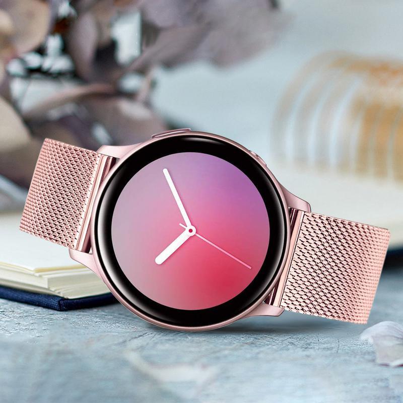 Milanese Watchband For Samsung Galaxy Watch Active2 44mm 40mm Mesh Stainless Steel Band Quick Release Strap Active 2 Bracelet