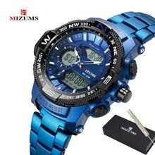 Top Luxe Merk MIZUMS Mannen Militaire Waterdichte Digitale Sport Horloges Heren Klok Mannelijke Pols Quartz Horloge Relogio Masculino XFCS