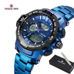 Image 1 - Top Luxury Brand MIZUMS Men Military Waterproof Digital Sport Watches Mens Clock Male Wrist Quartz Watch Relogio Masculino XFCS