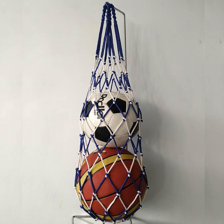 Installed 2 Ball Pocket-Ball Net Football Volleyball Basketball Net Pocket Basketball Large String Bag Training Net Pocket