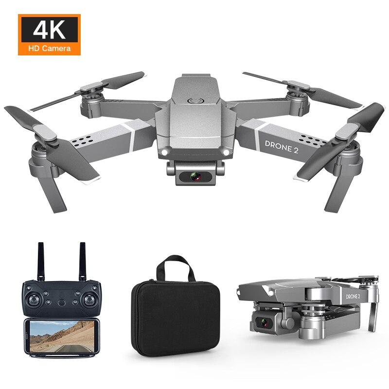 Dron E68 HD gran angular 4K WIFI 1080P FPV drone video grabación en vivo Quadcopter altura para mantener la cámara del Dron VS e58 drone HGIYI G11 GPS RC Drone 4K HD Cámara Quadcopter flujo óptico WIFI FPV con 50 veces Zoom plegable helicóptero Drones profesionales