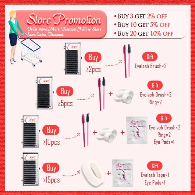 Eyelashes Extension Individual Silk Volume Faux Mink Lash Extension Premium Handmade Eyelash Natural Soft Cilios Lashes Make Up 1
