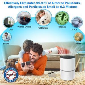 Image 3 - 3 modalità filtro HEPA portatile purificatore daria ricarica USB LED luce filtro aria ionizzatore anione generatore di ioni negativi diffusore di aromi