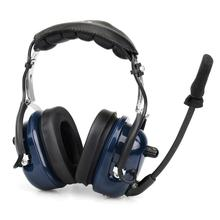 Retevis EH050K Blue VOX Volume Adjustment Speaker Noise Reduction Aviation MIC Headset with Finger PTT for Kenwood Retevis onsite volume reduction system