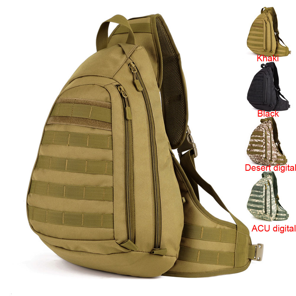 Tactical Cross body Backpack Military Sling Chest Pack Molle Daypack Large Laptop Daypack Waterproof Shoulder Bag Hunting Bags  - AliExpress