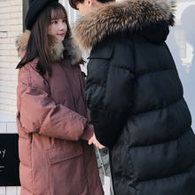 Winter Coat Men Warm Thick Fashion Solid Color Casual Parka Men Fur Collar Hooded Coat Man Wild Loose Long Cotton Male Clothes winter coat men warm fashion thick parka men casual solid color hooded coat man streetwear wild loose cotton long jacket men