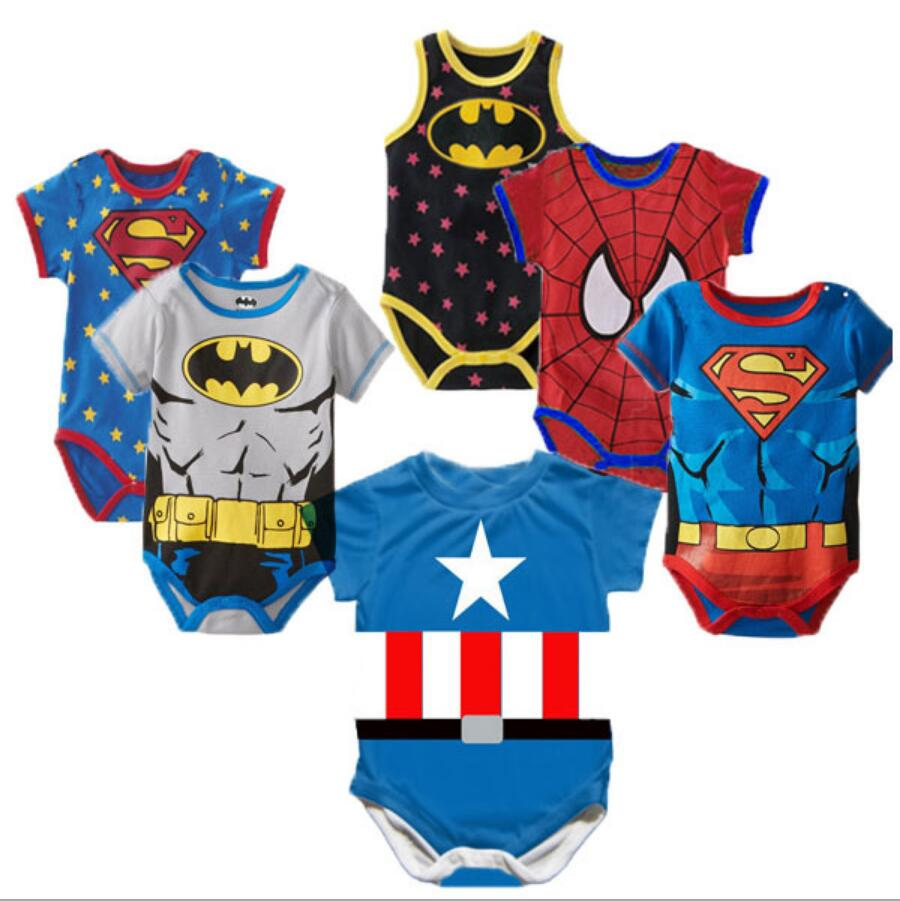 100% Cotton Newborn Baby Summer Baby Girl Clothes Baby Boy Rompers Baby Rompers Cartoon ropa bebe Clothing Short Sleeve