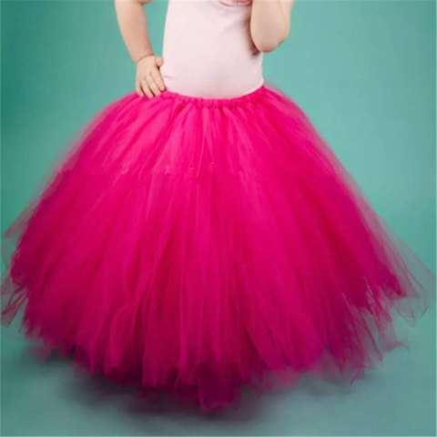 meninas preto fofo longo tutu saias infantil crianca artesanal danca pettiskirts undersaias criancas festa de