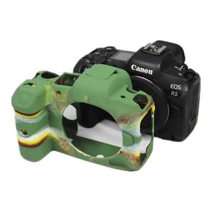Резиновый силиконовый чехол для корпуса защитная рамка для Canon EOS R5 EOSR5 беззеркальная камера