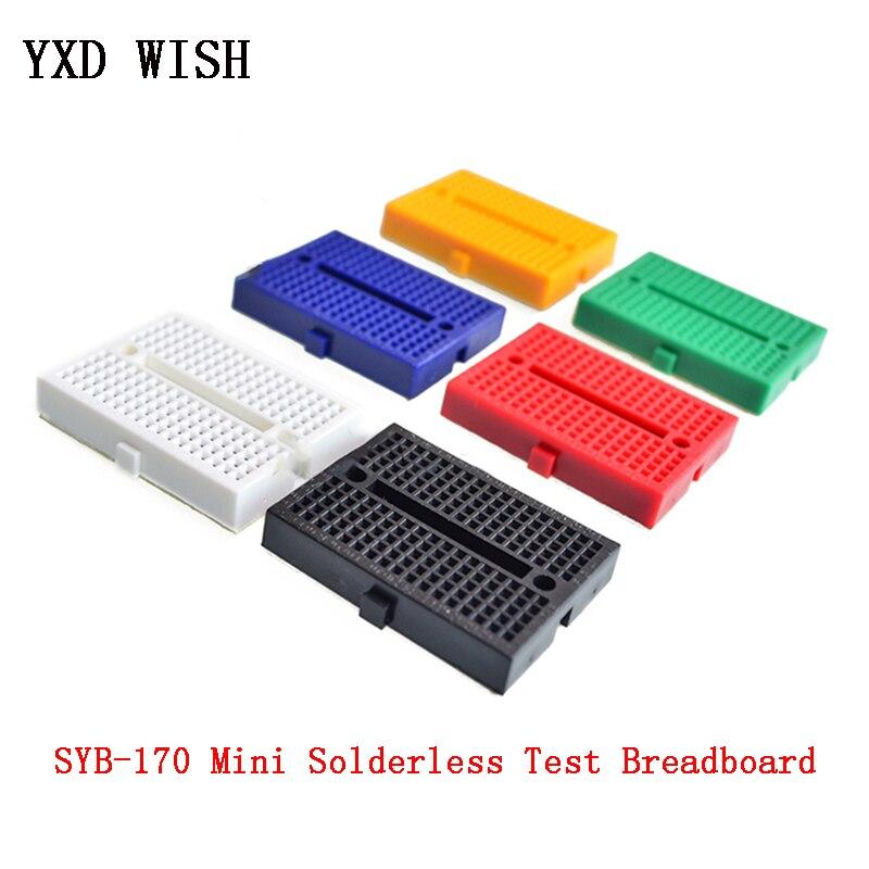 10pcs/lot SYB-170 Mini Solderless Breadboard Prototype Experiment Test Bread Board 170 Tie-points Diy Kit
