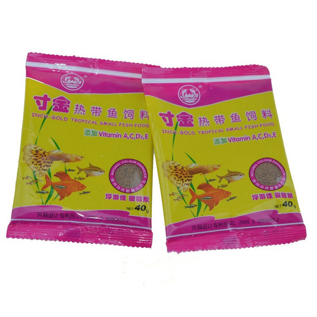 40g/Bag Package Of Feeding Food Tropical Fish Feed Fish Tank Aquatic  Pet Supplies 2