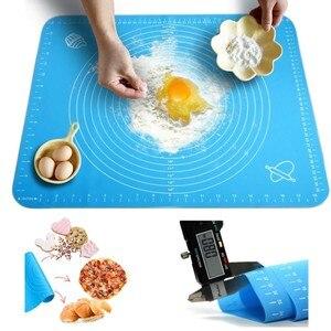 Силиконовый коврик для выпечки антипригарная машина для раскатки теста для пиццы печенья кондитерский кухонный лист для приготовления пищ...