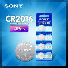 4 pçs/lote original marca nova bateria para sony cr2016 3v botão celular moedas baterias para assista computador cr 2016 dl2016 kcr2016