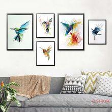 Абстрактные акварели птица холст картина красивая современная