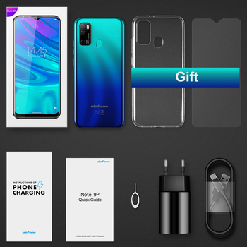 Ulefone Note 9P Smartphone Android 10 4GB+64GB Waterdrop Screen 6.52-Inch Octa-Core 4G Android Mobile Phone 6