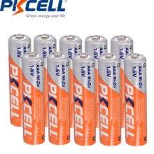 Bateria recarregável nizn da bateria recarregável do ni-zn aaa do níquel-zinco de pkcell 1.6v 900mwh de 10 pces para a câmera digital, lanterna elétrica, brinquedo