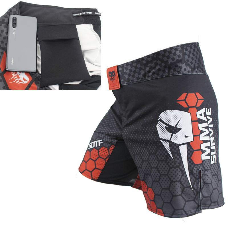 The New Adult Man Mma Shorts Boxing Training Shorts Freedom Fight With Pants Comprehensive Combat Thai Boxing Fitness Shorts image